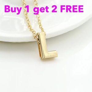 Jewelry - DIY letter initial name letter L necklace